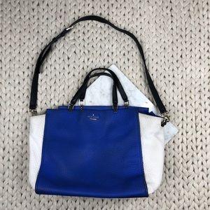 Kate Spade Colorblock Royal Blue Shoulder Bag